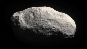 An artist's rendering of a tailless comet.