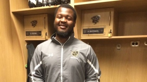 Defensive tackle David Onyemata was selected on Saturday. (Photo courtesy University of Manitoba Bison Sports)