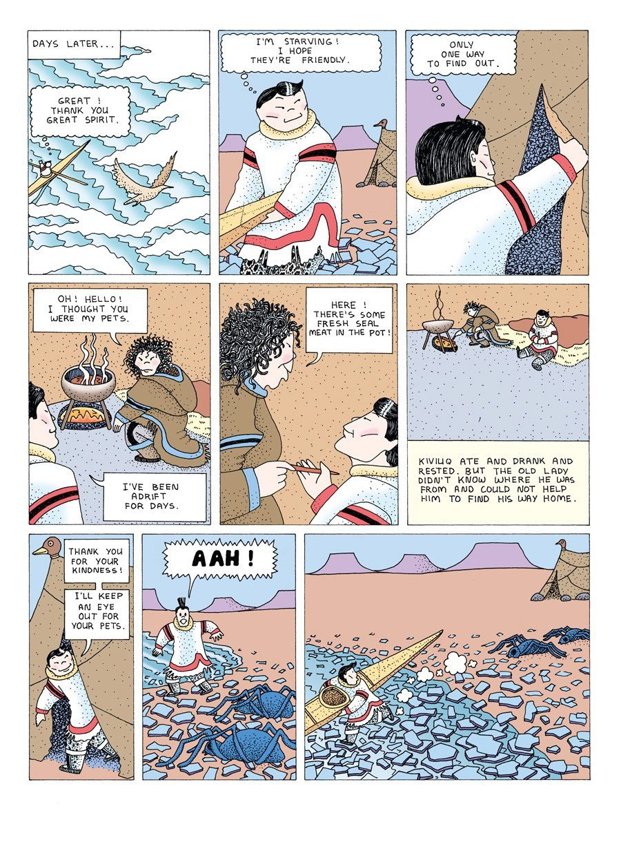 """Thirty years after amazing and entertaining audiences at Expo 86, """"Arctic Comics"""" with its mythological heroes, tall tales and meditations on what it means to be Inuit is back. (THE CANADIAN PRESS / HO-McNally Robinson Books)"""