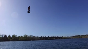 Flyboard Air Test 1 video screengrab. (Photo from Flyboard)