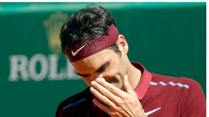 In this April 15, 2016 file photo, Roger Federer gestures during the Monte Carlo Tennis Masters tournament in Monaco. (AP / Lionel Cironneau)