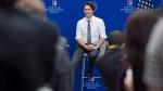 Prime Minister Justin Trudeau listens to a question from a student at American University, Friday, March 11, 2016 in Washington. (Paul Chiasson / THE CANADIAN PRESS)