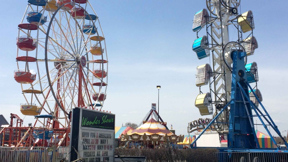 The boys were about to ride the Zipper (shown on the right) at the Wonder Shows carnival on Panet Road in the Rona parking lot Saturday night, when someone operating the ride hit the button too soon.