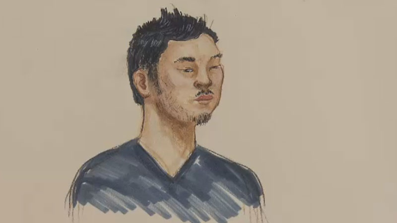 Yuan Zhi Gao, 23, is charged with breaking-and-entering in connection to a sexual assault at the UBC campus. (Court sketch/CTV Vancouver)