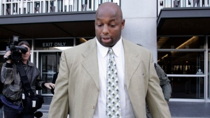 In this file photo, former NFL defensive lineman Dana Stubblefield, leaves a federal courthouse in San Francisco, Friday, Jan. 18, 2008. (AP Photo / Paul Sakuma)