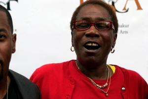 Afeni Shakur, mother of the late Tupac Shakur, is seen at the 2Pac 40th Birthday Concert Celebration on Thursday, June 16, 2011, in Atlanta. (AP /  Ron Harris)