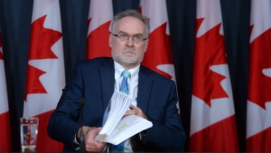 Canada's Auditor General Michael Ferguson holds a press conference at the National Press Theatre in Ottawa on Tuesday, May 3, 2016, regarding the 2016 Spring Reports of the Auditor General. (Sean Kilpatrick / THE CANADIAN PRESS)