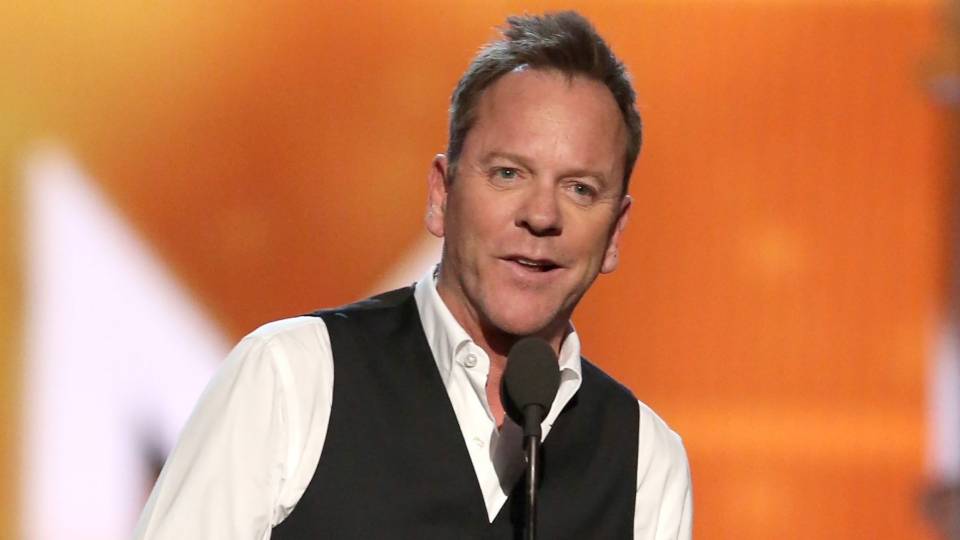 Kiefer Sutherland is pictured in this file image presenting at the 51st annual Academy of Country Music Awards on April 3, 2016, in Las Vegas. (Photo by Matt Sayles/Invision/AP)