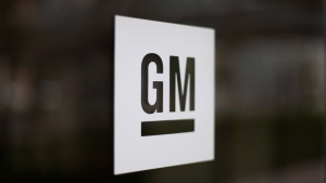 The General Motors logo at the company's world headquarters in Detroit on May 16, 2014. (AP Photo/Paul Sancya, File)