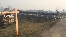 Beacon Hill Alberta wildfire damage