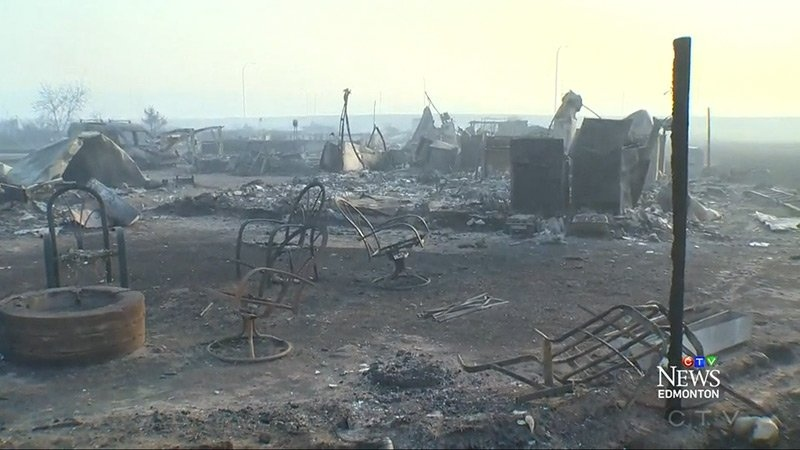 Fort McMurray wildfire destruction