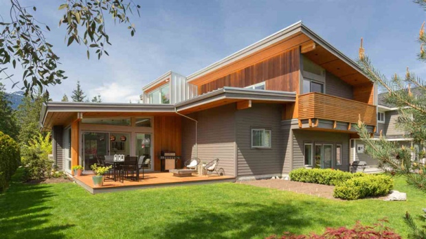 "Squamish: For $1.39 million in Squamish, you can buy this light-filled residence built in 2012. Its large facing windows were designed to maximize ""solar gain"" in the winter months, and there's a bonus semi-lofted legal suite at the side of the home. (Realtor.ca/Simon Hudson)"