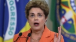 Brazil's President Dilma Rousseff speaks during the launching of an agricultural plan to allocate billions of dollars to farmers at Planalto presidential palace in Braslia, Brazil, Wednesday, May 4, 2016. (AP / Eraldo Peres)