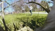Watch as a squirrel runs off with a GoPro