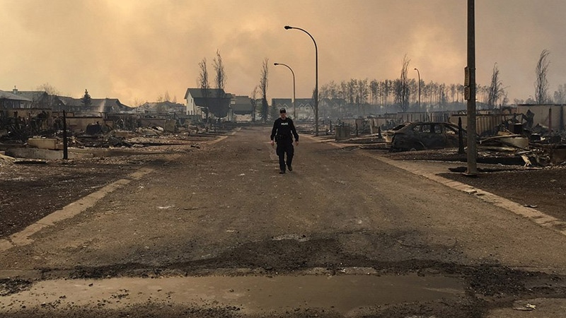 RCMP officer in Fort McMurray