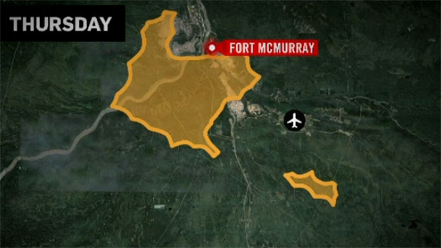 Fort Mcmurray Wildfire Map.Map Shows Progression Of Fort Mcmurray Fire Ctv News