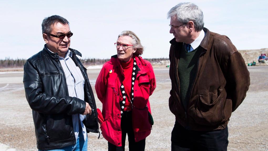 Chief Bruce Shisheesh, Bennett and Charlie Angus