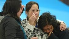 Woman arrives in Edmonton