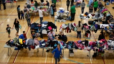 Evacuees from the Fort McMurray wildfires