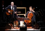 James Taylor, left, performs with cellist Yo-Yo Ma during Carnegie Hall's 125th Anniversary Concert in New York, Thursday, May 5, 2016. (AP / Julie Jacobson)