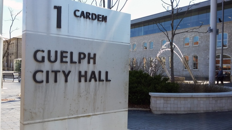 Guelph City Hall is pictured on Friday, May 6, 2016. (Christina Marshall / CTV Kitchener)