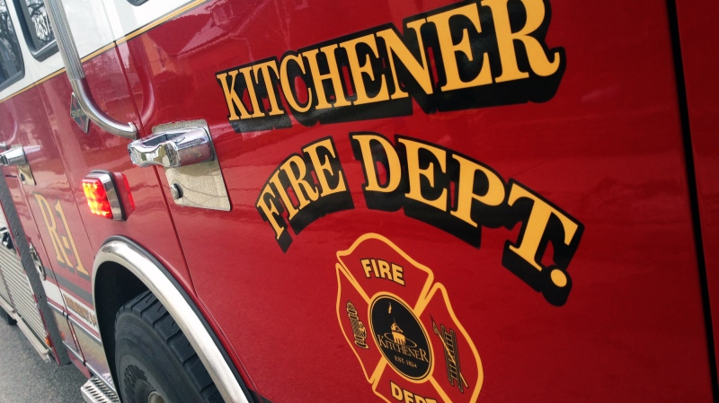A Kitchener Fire Department truck is pictured on Friday, Feb. 5, 2016. (Dan Lauckner / CTV Kitchener)
