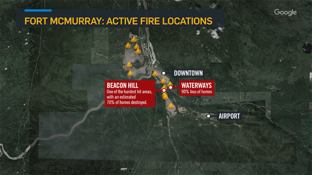 Fort Mcmurray Wildfire Map.By The Numbers Key Figures And Charts That Show The Scope Of The