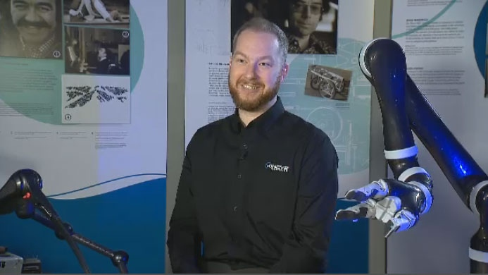 Charles Deguire, CEO and co-founder of Kinova, has won the Governor General's Innovation Award for his robotic arm, Jaco.