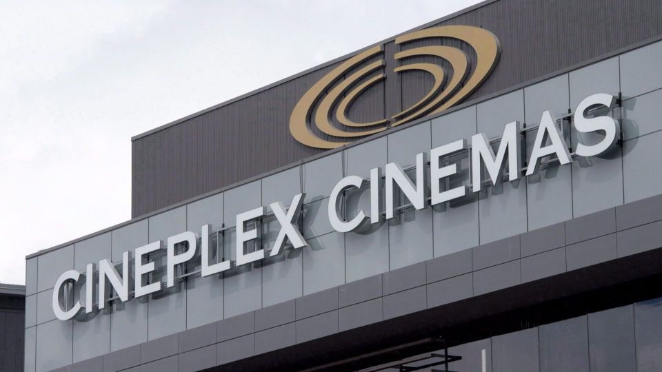 A Cineplex theatre is shown in Ottawa, Friday May 22, 2015. (THE CANADIAN PRESS/Adrian Wyld)