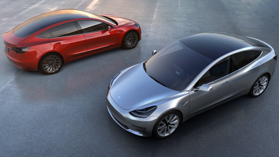 Designs for the new Tesla Model 3 (Courtesy Tesla Motors)