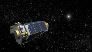 An undated artists concept provided by NASA shows the Keplar Spacecraft moving through space. On April 10, 2016, NASA is trying to resuscitate its planet-hunting Kepler spacecraft, in a state of emergency 75 million miles away. (AP / NASA)
