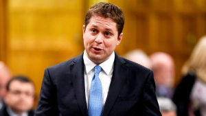 Conservative MP Andrew Scheer asks a question during Question Period in the House of Commons in Ottawa on Monday, May 9, 2016. THE CANADIAN PRESS/Justin Tang