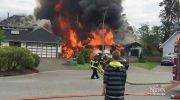 Up in flames: Langley house destroyed by fire