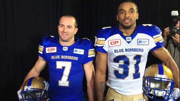 4cf5a3de003 Winnipeg Blue Bombers unveil new uniforms. Blue Bomers