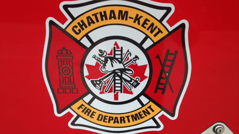 Chatham-Kent Fire Department logo on a fire engine in Chatham, Ont. (Chris Campbell / CTV Windsor)