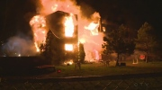 A fire broke out before 2 a.m. on Terrasse Turgeon in Longueuil