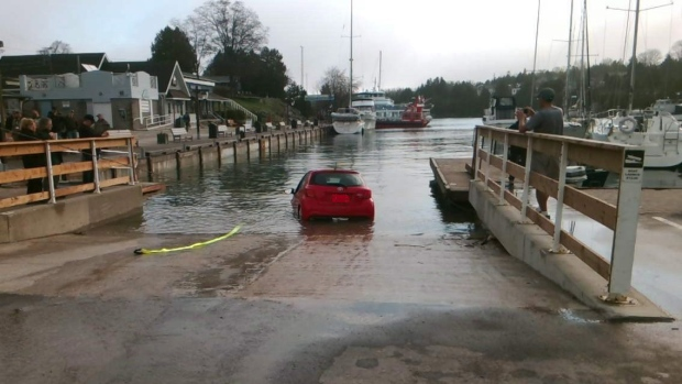 Sink And Swim Gps Leads Driver Off Boat Launch Into Lake
