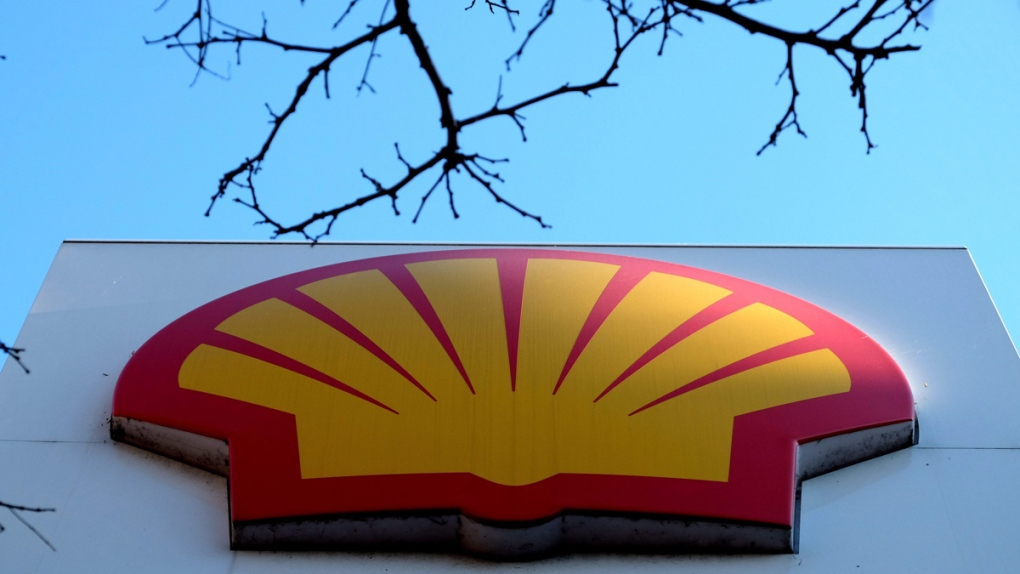 The Shell logo at a petrol station in London