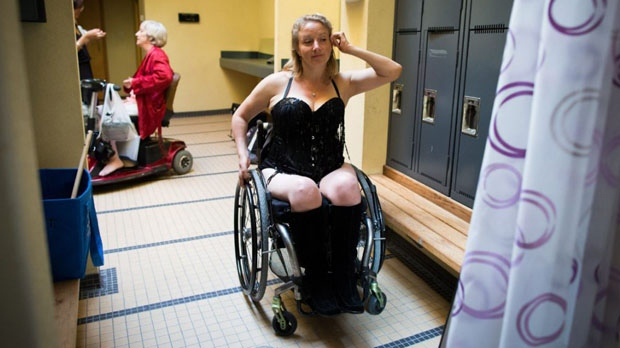 """A group of performers who have disabilities will bare their hearts and bodies in burlesque cabaret """"Sexy Voices,"""" created to shed light on a topic that goes underexposed.  (DARRYL DYCK / THE CANADIAN PRESS)"""