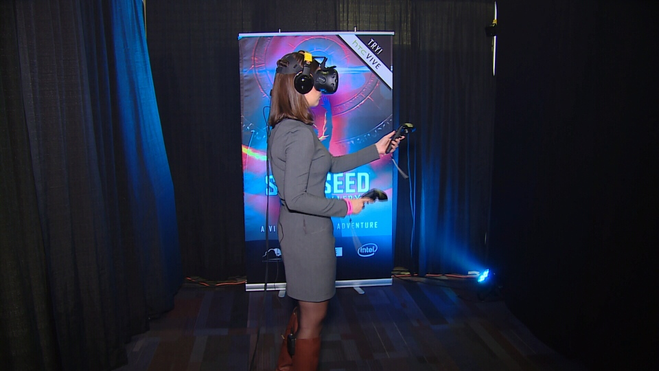 Thousands of people attended a sold-out event showcasing virtual reality at the Vancouver Convention Centre Saturday. May 14, 2016. (CTV News).