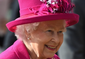 Queen Elizabeth II smiles during the fourth day of the Royal Windsor Horse Show, in the grounds of Windsor Castle, Windsor, England, Saturday May 14, 2016. (Andrew Matthews / PA)