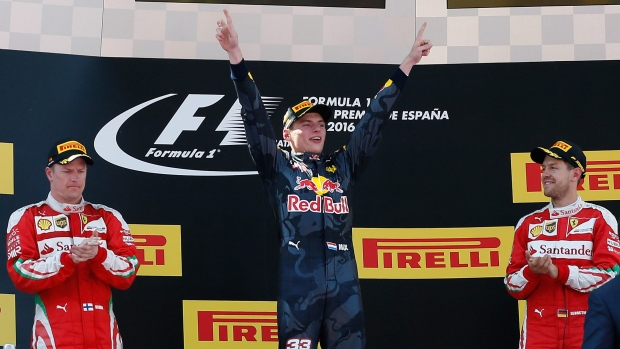 Verstappen becomes youngest F1 winner after Mercedes crash | CTV News