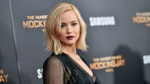 """In this Nov. 18, 2015, file photo, actress Jennifer Lawrence attends a special screening of """"The Hunger Games: Mockingjay Part 2"""" at the AMC Loews Lincoln Square in New York. (Photo by Evan Agostini/Invision/AP, File)"""