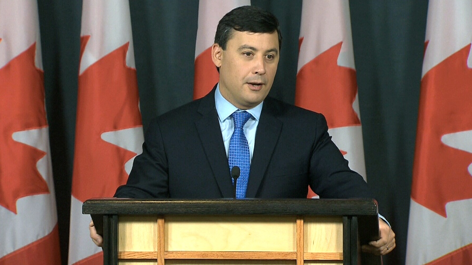 Conservative MP Michael Chong announces that he will enter the Conservative leadership race, Monday, May 16, 2016.