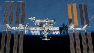 An undated photo provided by NASA shows the International Space Station in orbit. (NASA)