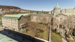 The convent of the Religious Hospitallers of St. Joseph at the base of Mount Royal. Photo courtesy Francois Goneau, City of Montreal