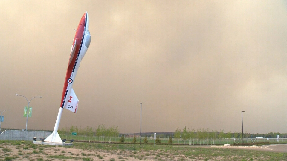 Smoke from Alberta wildfire