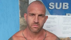 Steven Douglas Skinner is shown after being arrested in Playa El Yaque, on Margarita Island in Venezuela. (THE CANADIAN PRESS / HO - CICPC)