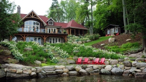 Wendel Clark's Muskoka cottage is shown in this photo posted to AirBnB. Clark will rent the cottage out this summer with all proceeds going to the Heart and Stroke Foundation of Canada.