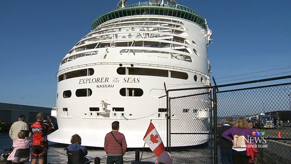 Victoria welcomes its largest cruise ship